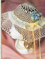 ажурная вязаная шляпа