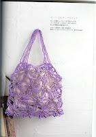 летняя вязаная сумка с ромашками