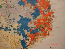 Bản đồ khu khai thác bô xít Nhân Cơ (Gia Nghĩa thuộc tỉnh Dak Nong) Tân Rai (Lộc Thắng, Lộc Ngãi)