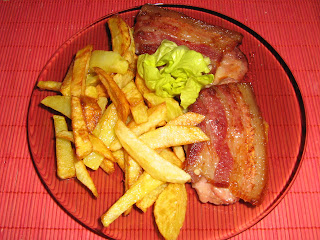 Friptura cu bacon si cascaval
