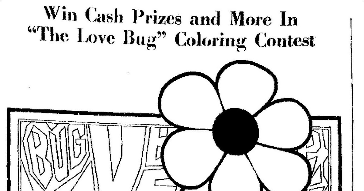 Mostly Paper Dolls quot The Love Bug quot Coloring Contest 1969
