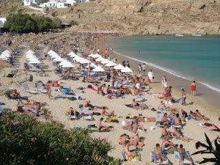 Paradise Beach, best top beach, Mykonos, Greece