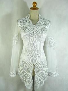 Gambar Foto Baju Kebaya Wanita Modern Model Sulam