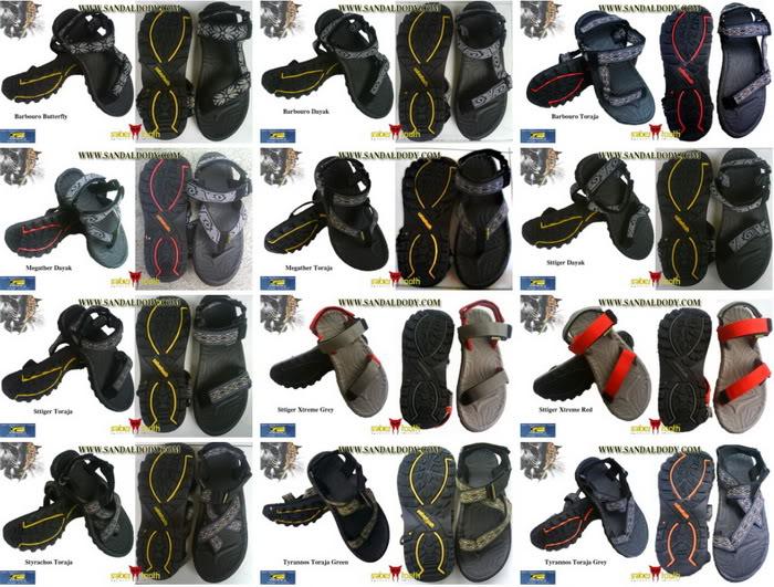 Gambar Foto Model Sandal Untuk Pria Wanita Cewek atau Cowok dengan ...