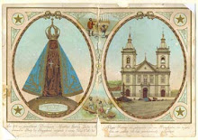 Estampita de la Virgen de Aparecida