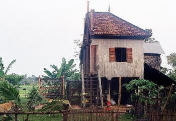 Divided house in Cambodia