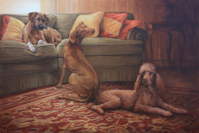 dog portrait in oil by Lori Levin