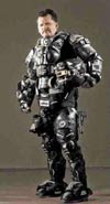 Halo-like first ballistic, full exoskeleton body suit of armour