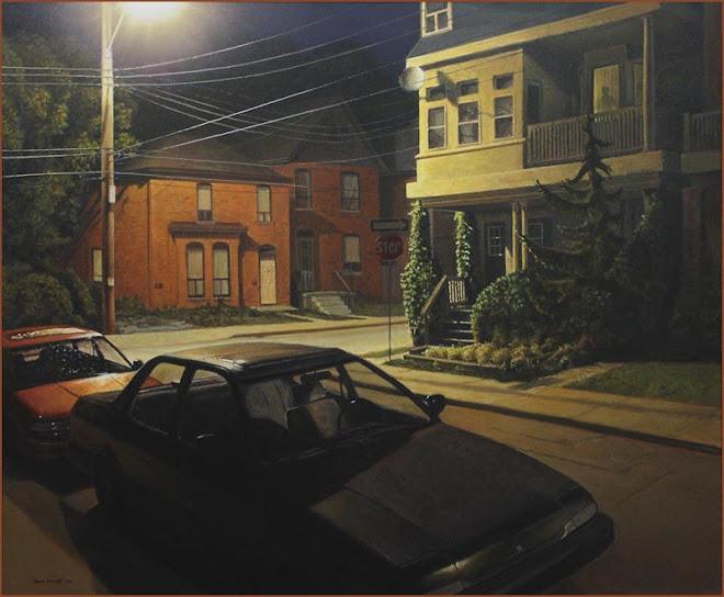 Midnight ~ Corner of George & Locke Street, Hamilton Ontario