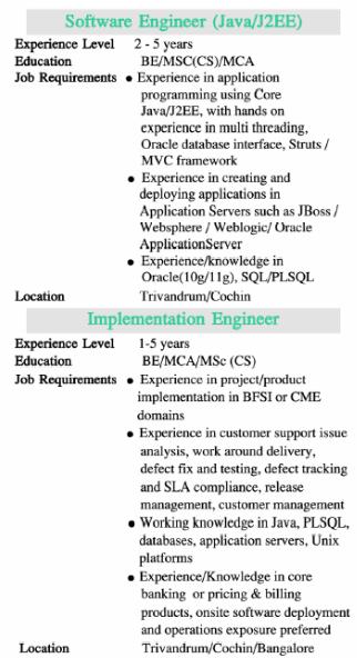 freelance jobs in java j2ee