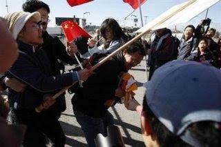 Protesters attack