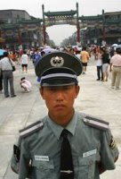 Friendly Beijing policeman