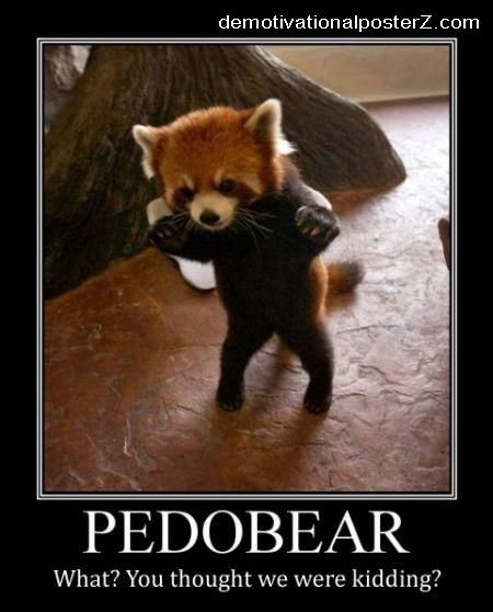 pedobear demotivational poster