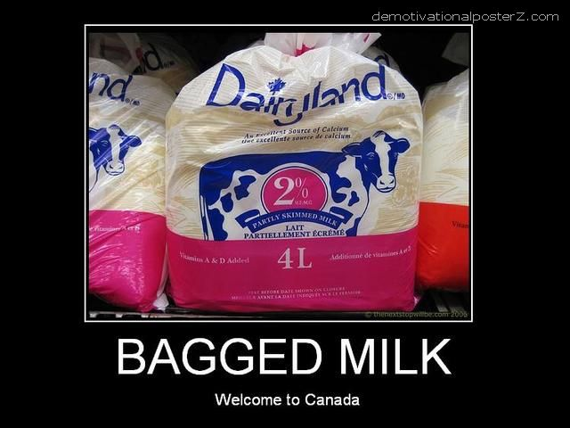 Bagged Milk - welcome to Canada