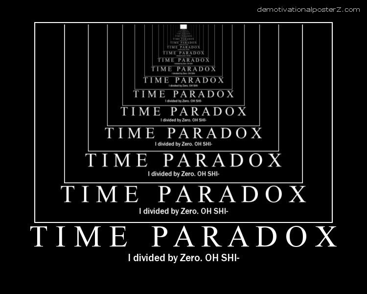 Time paradox - I divided by zero