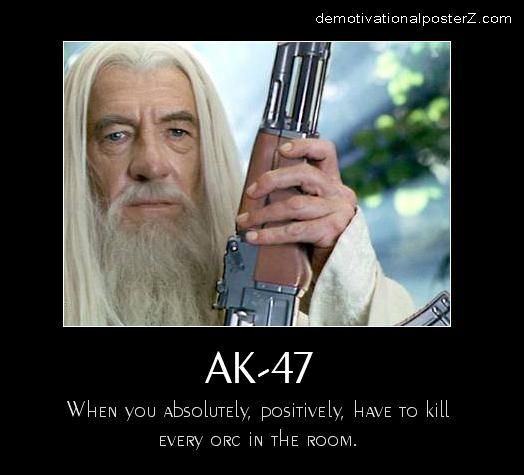 Gandalf With AK-47