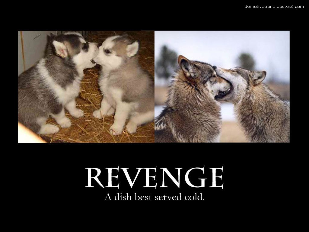 Revenge Husky Dog motivational