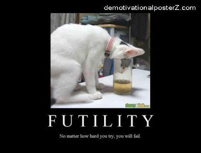futility fail cat motivational posters