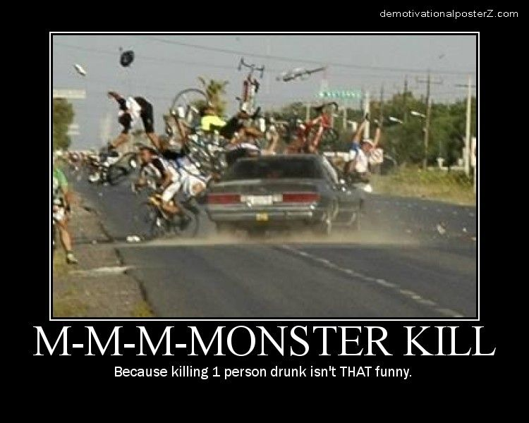 Monster Kill - Bicycle Crash