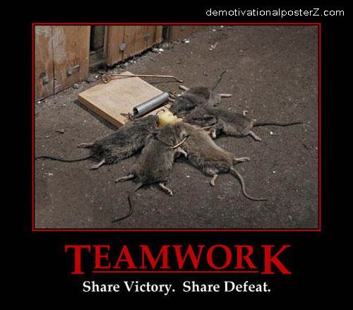 Teamwork - share victory, share defeat