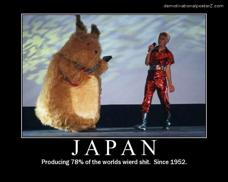 Japan producing 78% of the world's wierd shit, since 1952