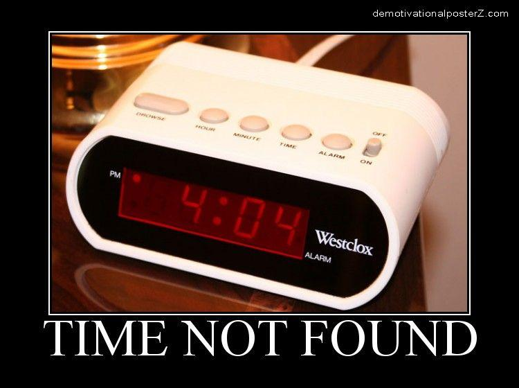 404 time not found alarm