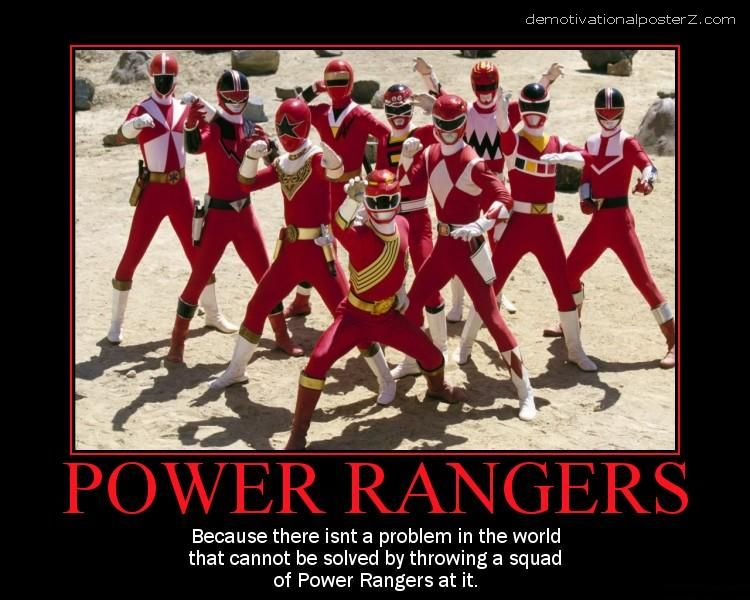 Power Rangers motivational poster
