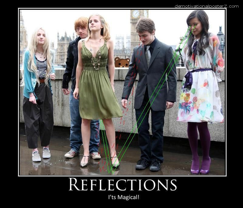Harry Potter's Emma Watson. <br />Reflections - it's magical