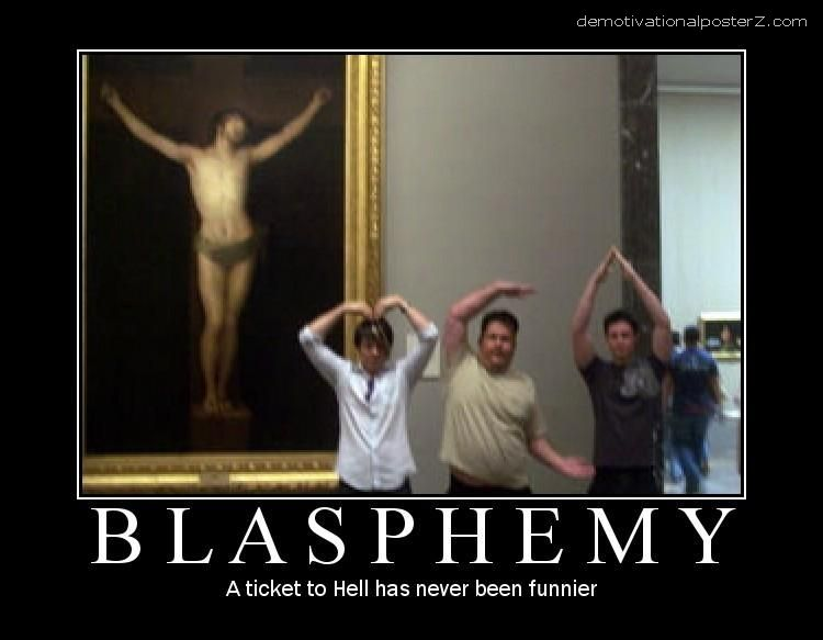 Blasphemy ymca ticket to hell jesus
