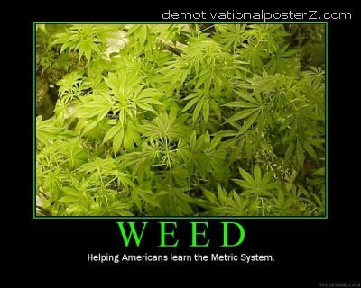 Weed - helping Americans learn the metric system