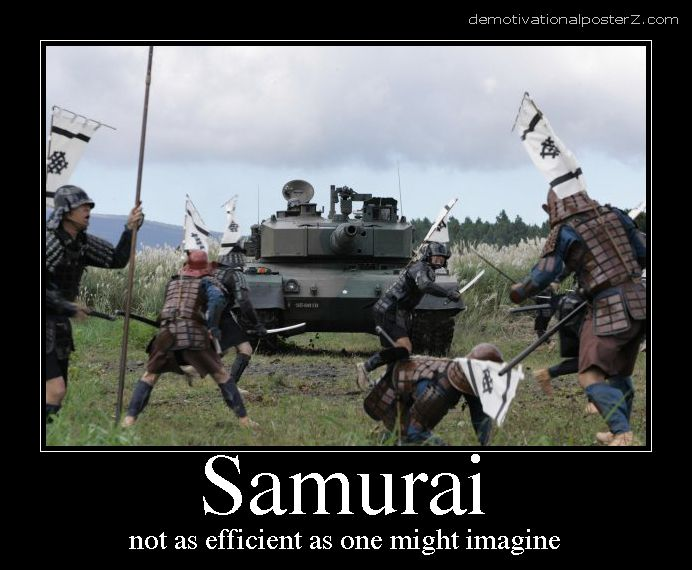 Samurai - not as efficient as one might imagine vs Tank