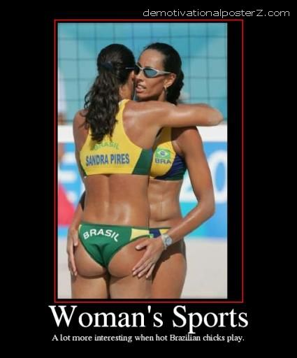 Woman's sports Brazilian chicks