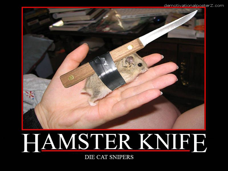 Hamster knife - die cat snipers