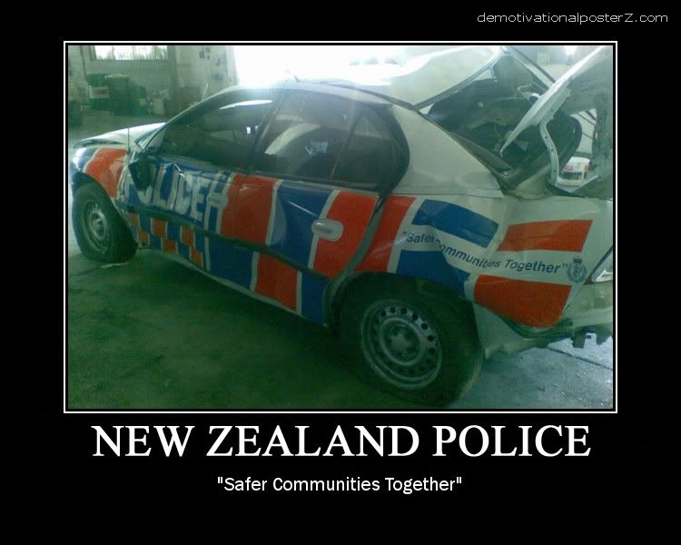 NEW ZEALAND POLICE motivational poster