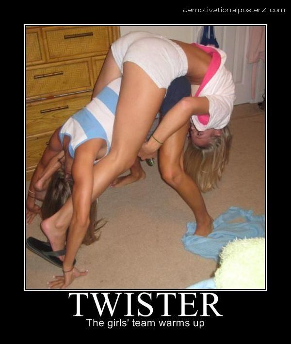 TWISTER - the girls' team warms up motivational poster