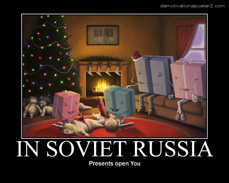 in soviet russia present open you