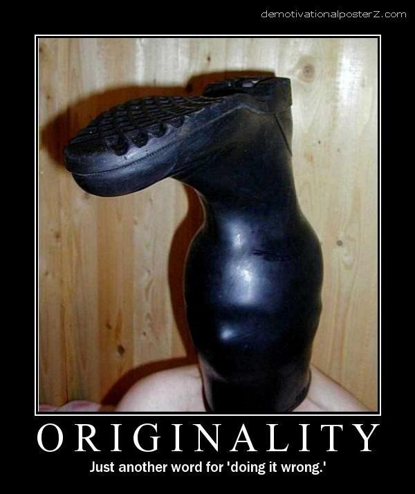 boot on head