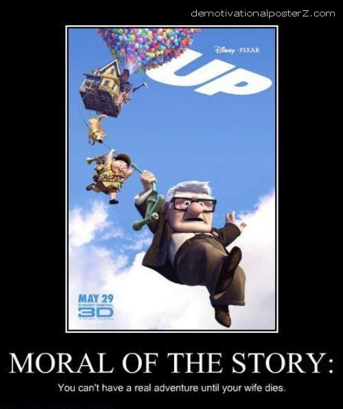 up movie moral of story