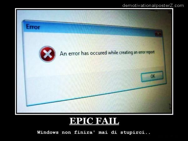 error occurred while creating error report