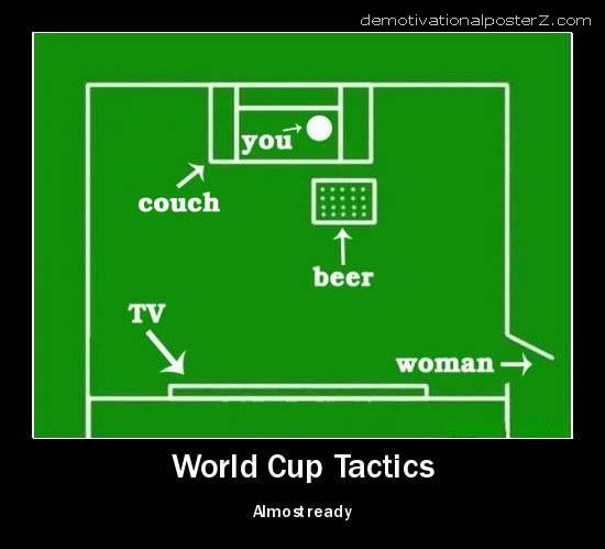 world cup tactics wife beer couch tv