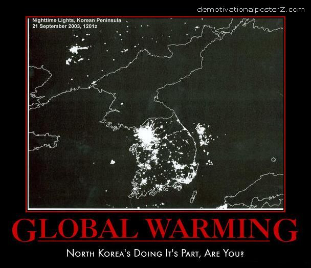 NORTH KOREA SATELITE IMAGE DARK FUNNY