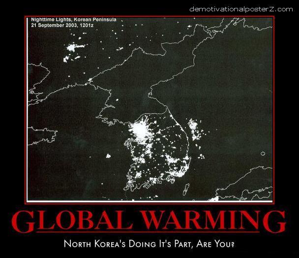 NORTH KOREA SATELITE IMAGE DARK FUNNY