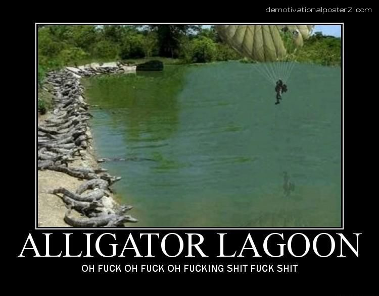 ALLIGATOR LAGOON motivational poster