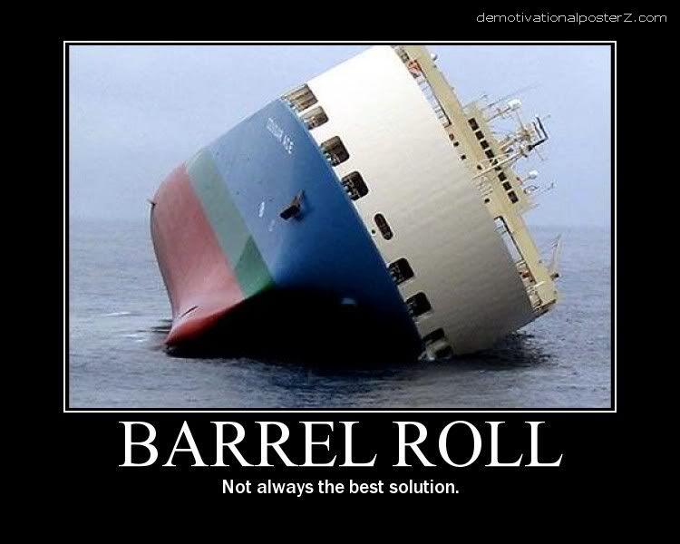 barrel roll ship