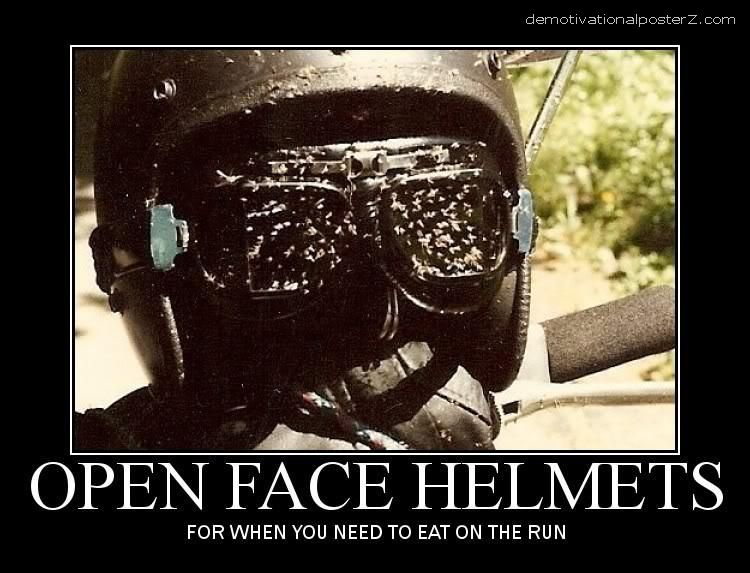 OPEN FACE HELMETS funny poster