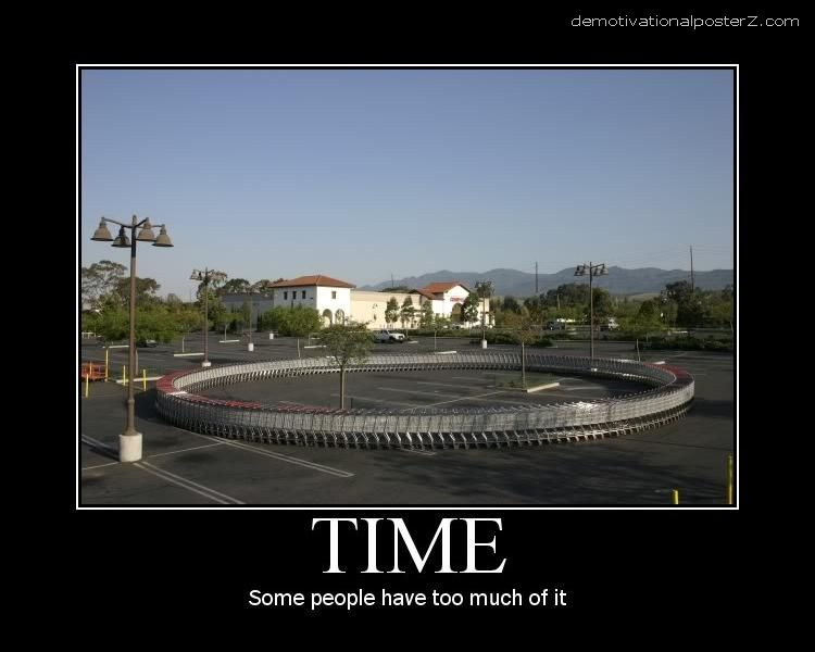 TIME - SOME PEOPLE HAVE TOO MUCH OF IT