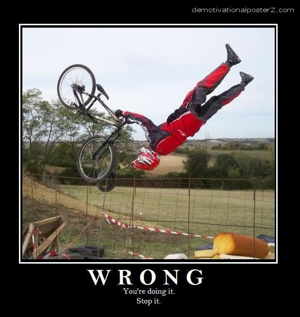 doing it wrong bicycle