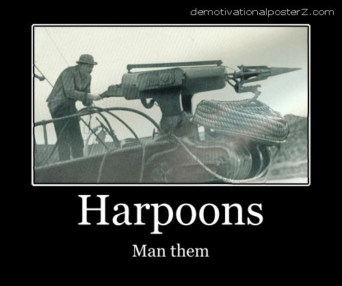 harpoons man them