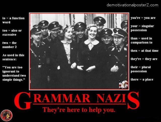 grammar nazis spelling demotivator