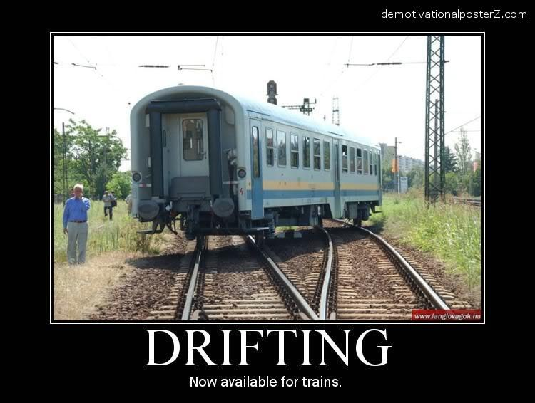 train drifting poster